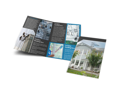 Window Cleaning & Pressure Washing Brochure Template preview