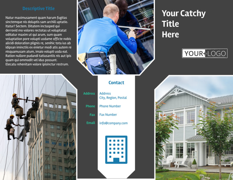 Window Cleaning Brochure Template Preview 2