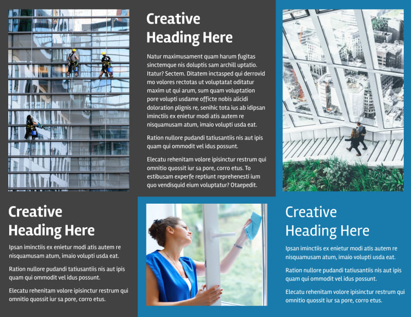 Window Cleaning Brochure Template Preview 3
