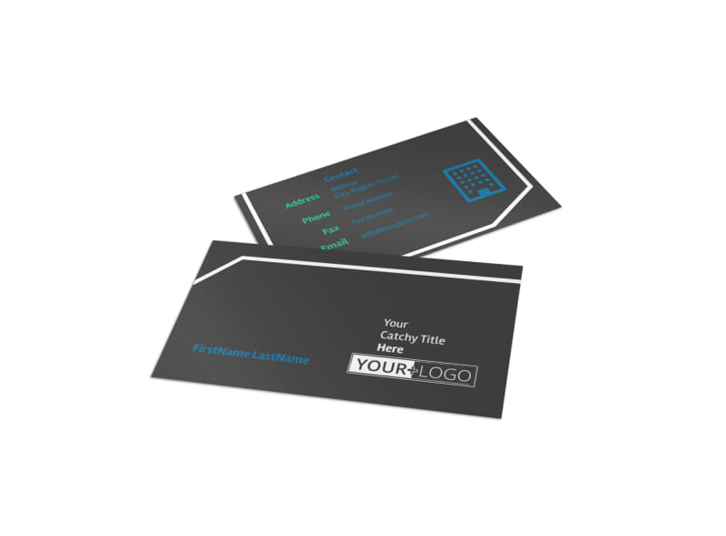 Window Cleaning Business Card Template Preview 4