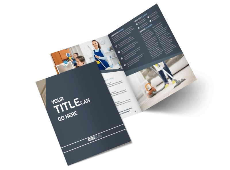 Apartment Cleaning Bi-Fold Brochure Template 2