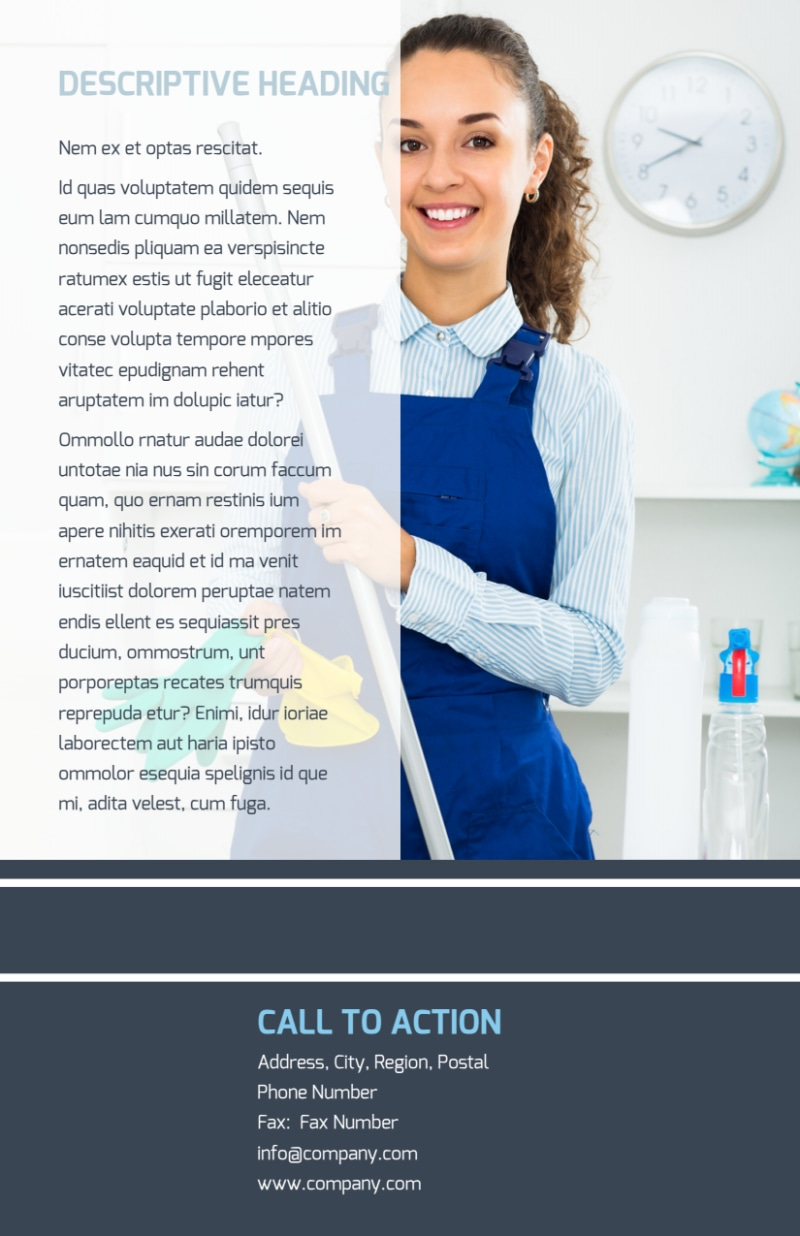 Apartment Cleaning Flyer Template Preview 3