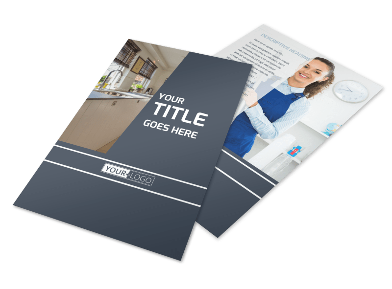 Apartment Cleaning Flyer Template Preview 1