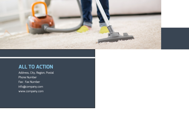 Apartment Cleaning Postcard Template Preview 3