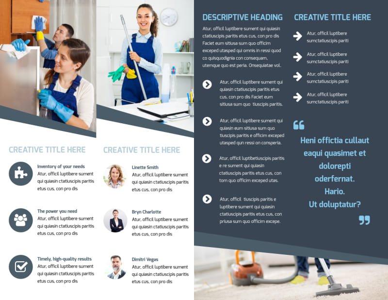 Apartment Cleaning Brochure Template Preview 3