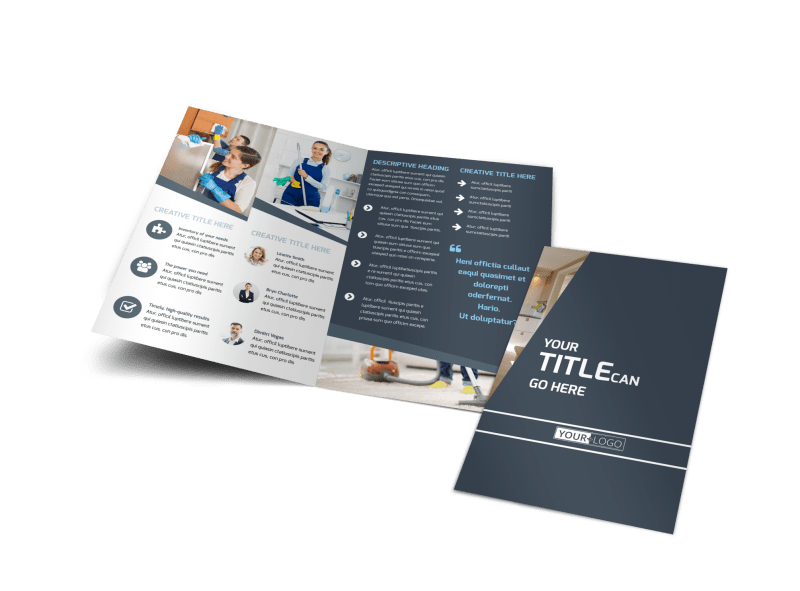 Apartment Cleaning Brochure Template Preview 1
