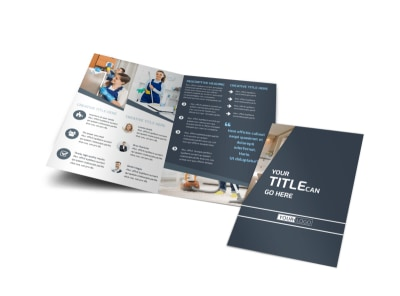 Apartment Cleaning Bi-Fold Brochure Template