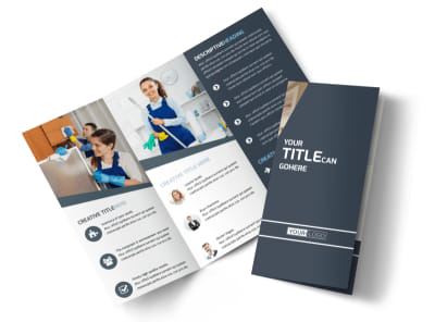 Apartment Cleaning Tri-Fold Brochure Template