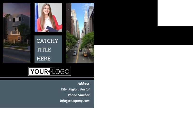 Urban Real Estate Postcard Template Preview 3