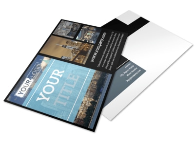 Urban Real Estate Postcard Template preview