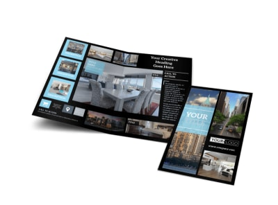 urban real estate bi fold brochure template