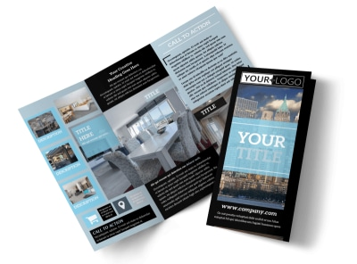 Urban Real Estate Tri-Fold Brochure Template