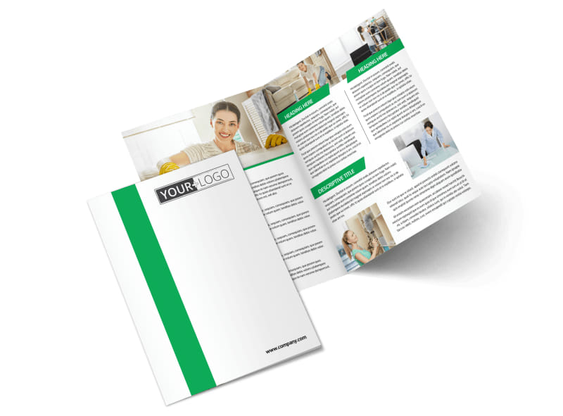 Green Cleaning Bi-Fold Brochure Template 2