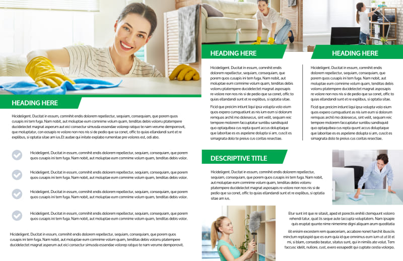 Green Cleaning Brochure Template Preview 3