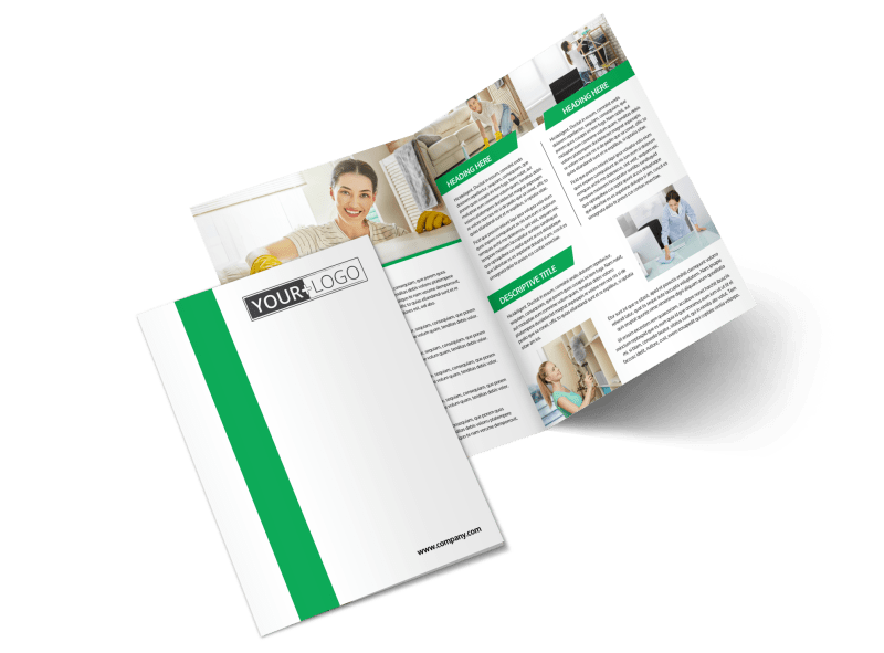 Green Cleaning Brochure Template Preview 1