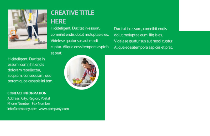 Green Cleaning Postcard Template Preview 3