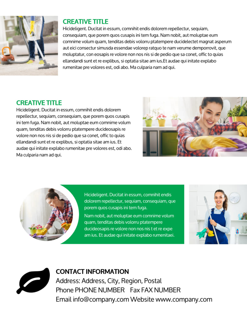 Green Cleaning Flyer Template Preview 3
