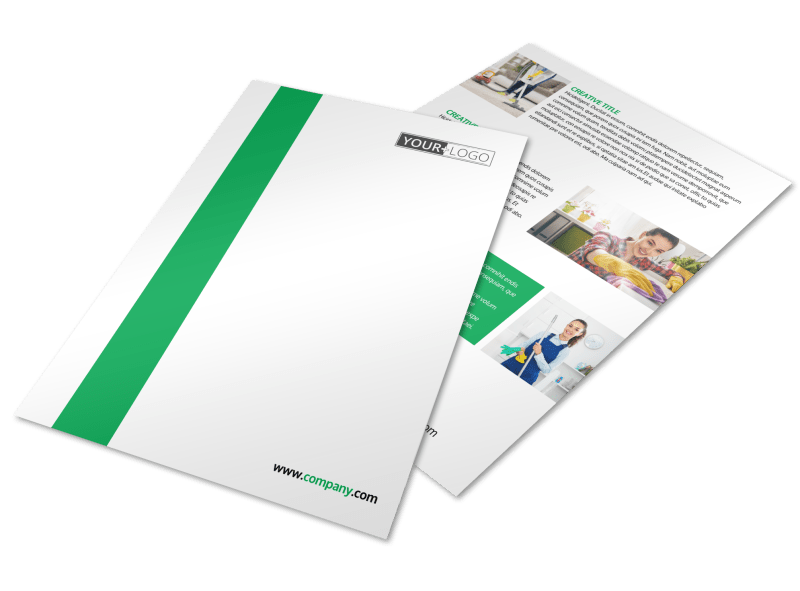 Green Cleaning Flyer Template Preview 1