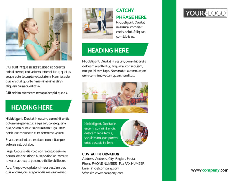 Green Cleaning Brochure Template Preview 2