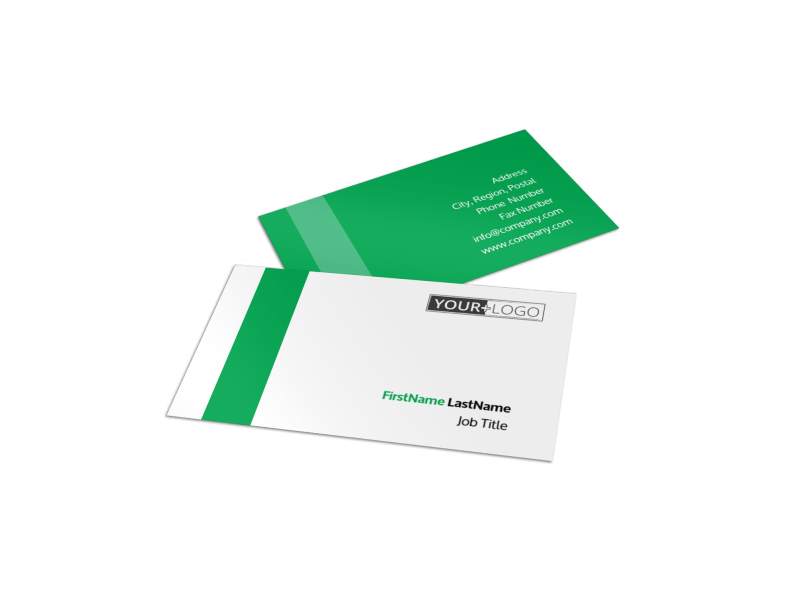 Green Cleaning Business Card Template Preview 1