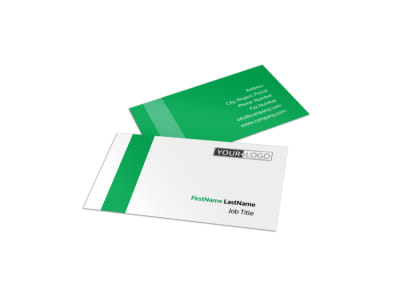 Green Cleaning Business Card Template