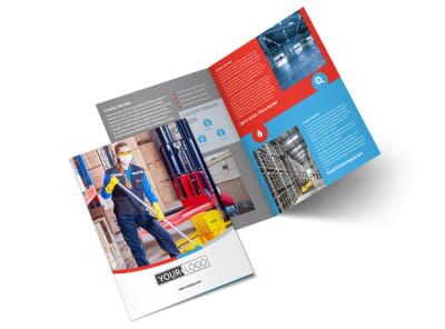 Industrial Cleaning Bi-Fold Brochure Template 2