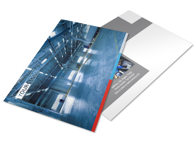 Industrial Cleaning Postcard Template