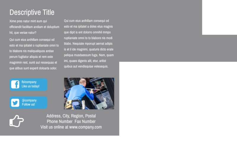 Industrial Cleaning Postcard Template Preview 3