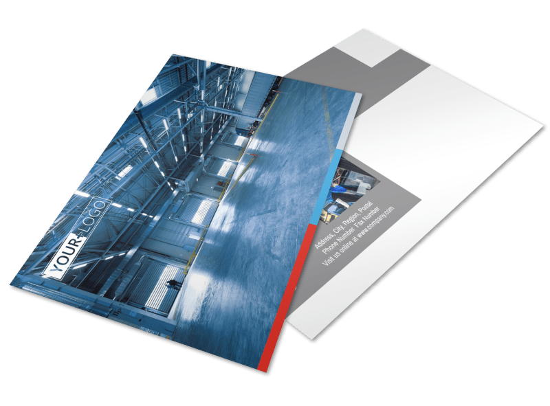 Industrial Cleaning Postcard Template Preview 1