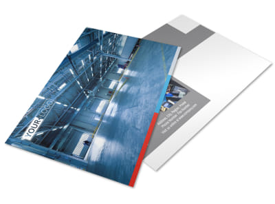 Industrial Cleaning Postcard Template preview