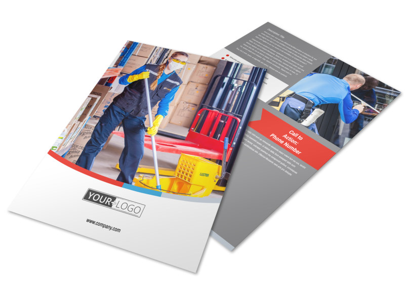 Industrial Cleaning Flyer Template