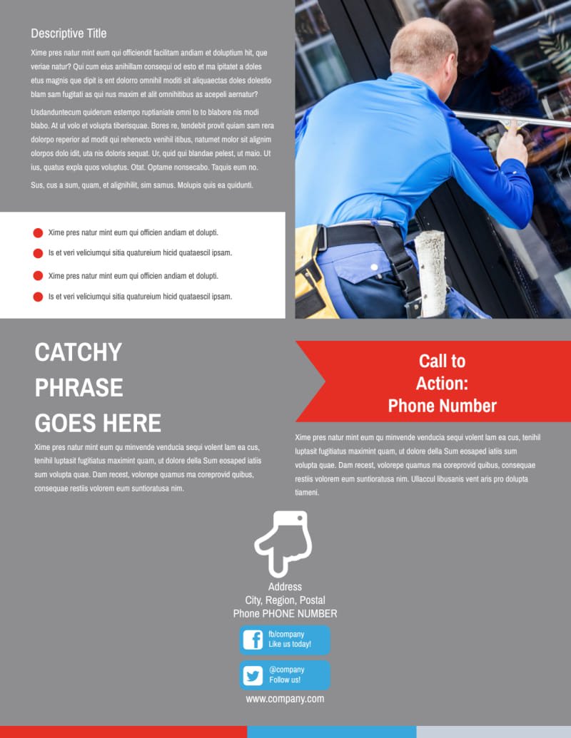 Industrial Cleaning Flyer Template Preview 3