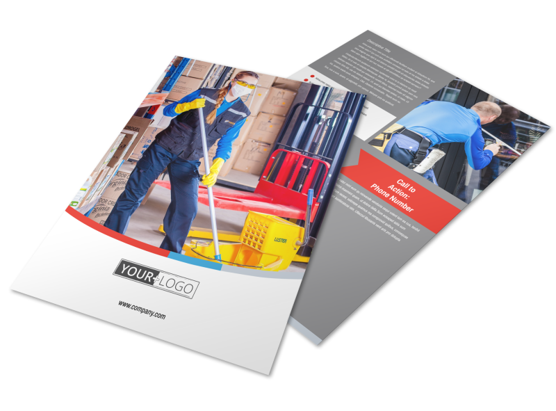 Industrial Cleaning Flyer Template Preview 1