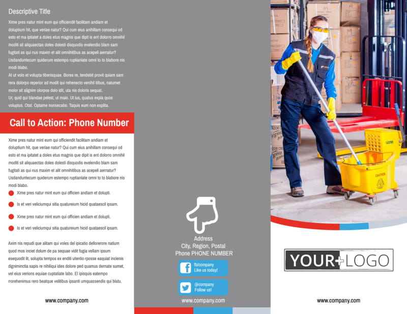 Industrial Cleaning Brochure Template Preview 2