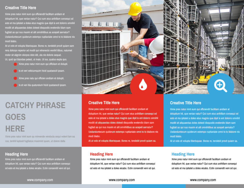 Industrial Cleaning Brochure Template Preview 3