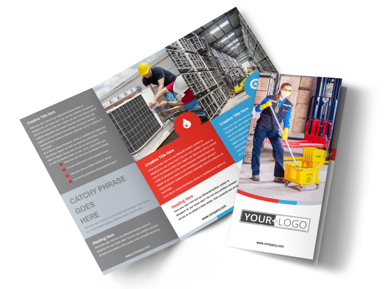Industrial Cleaning Brochure Template Preview 1