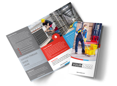 Industrial Cleaning Tri-Fold Brochure Template