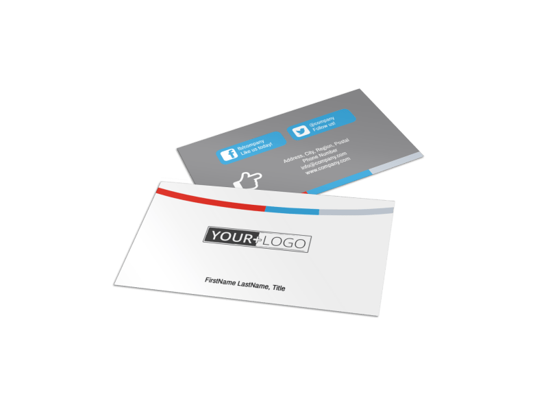 Industrial Cleaning Business Card Template Preview 1