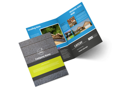 Roof Cleaning Bi-Fold Brochure Template 2