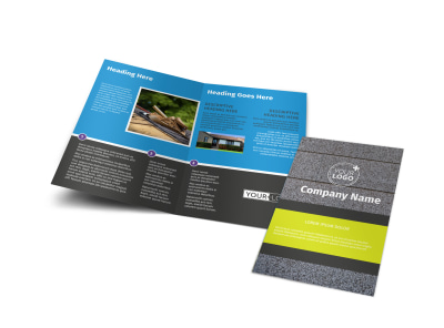 Roof Cleaning Bi-Fold Brochure Template preview