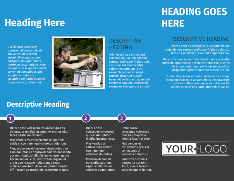 Roof Cleaning Brochure Template Preview 3