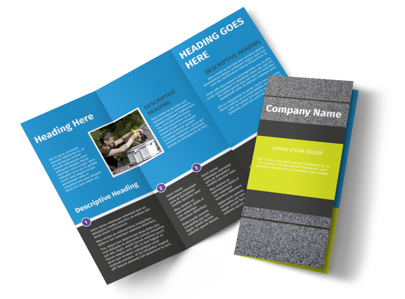 Roof Cleaning Brochure Template Preview 1