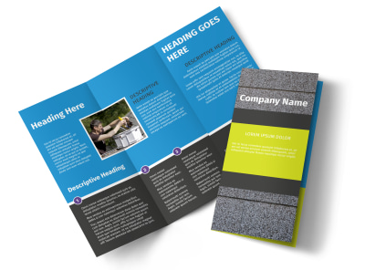 Roof Cleaning Tri-Fold Brochure Template preview