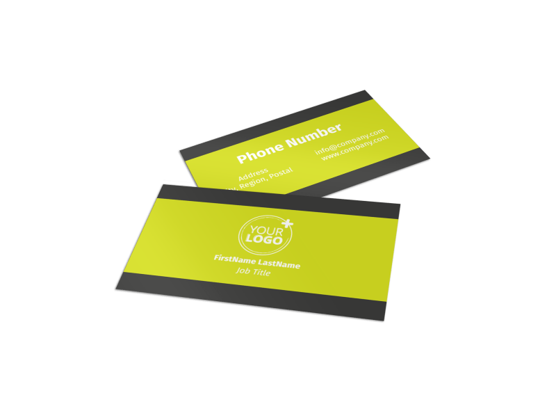 Roof Cleaning Business Card Template Preview 1