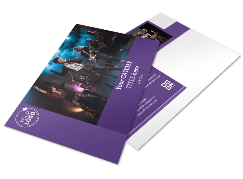 Music Concert Postcard Template
