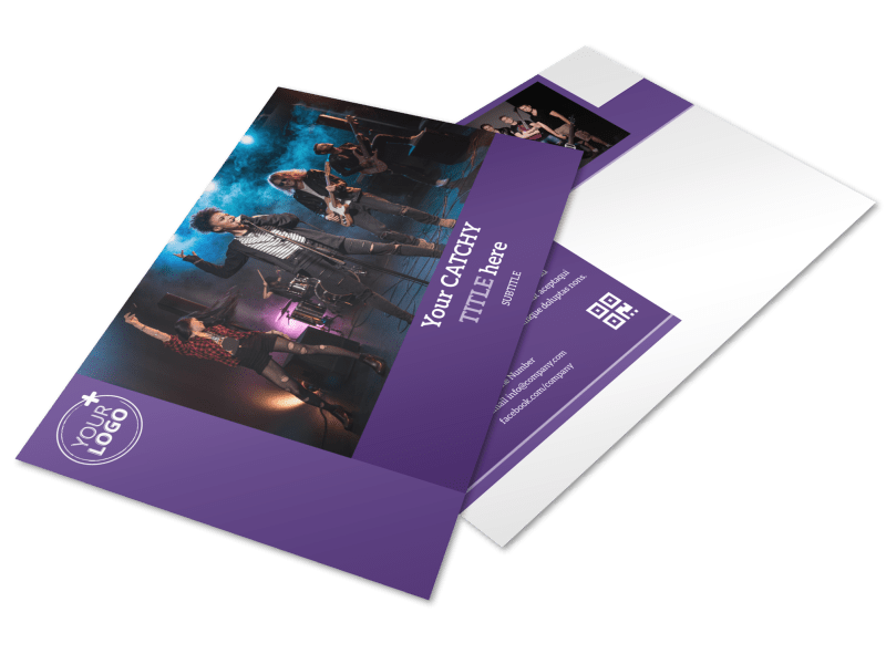 Music Concert Postcard Template Preview 1
