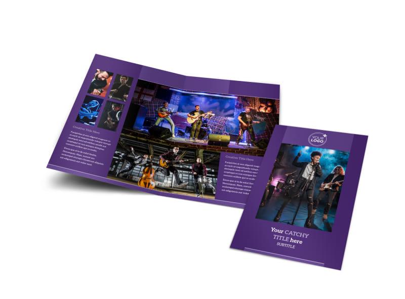 Music Concert Bi-Fold Brochure Template