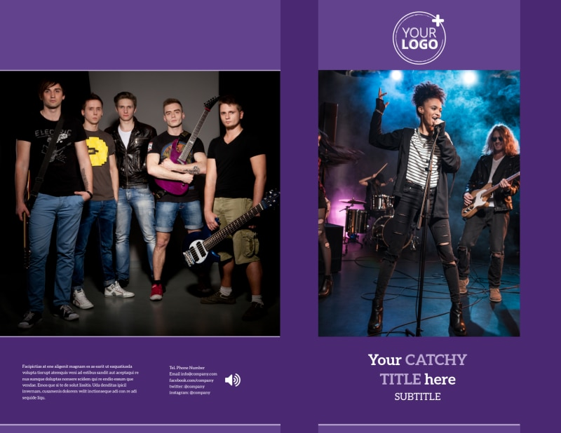 Music Concert Brochure Template Preview 2