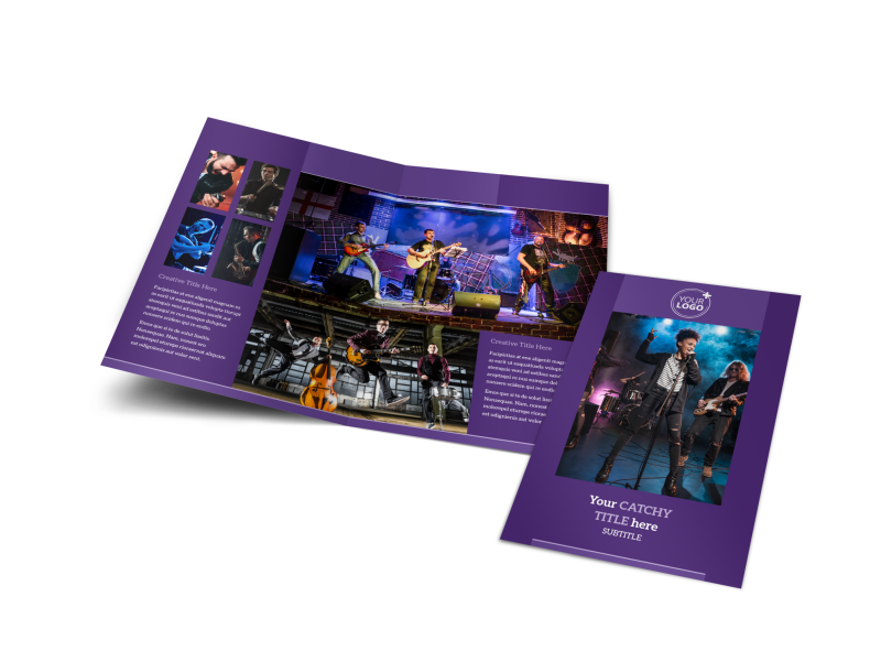 Music Concert Brochure Template Preview 1