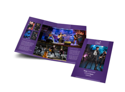 Music Concert Bi-Fold Brochure Template preview